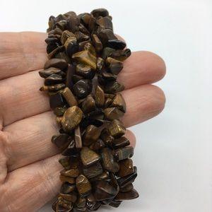 Tigereye Wide Stretchy Bracelet